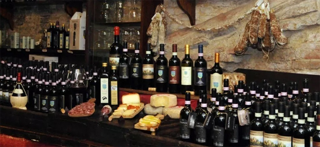 Point de vente de vins Ercolani
